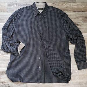 BUGATCHI Uomo Pinstripe Dress Shirt D20